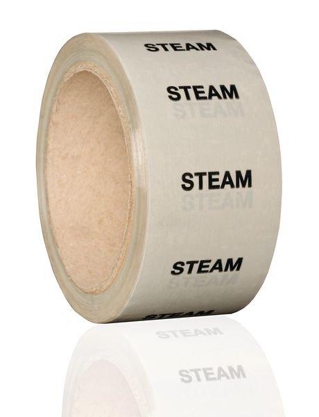 British Standard Pipeline Marking Tape - Steam