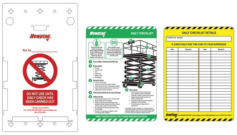 Scafftag® MEWP Inspection Tags Kit