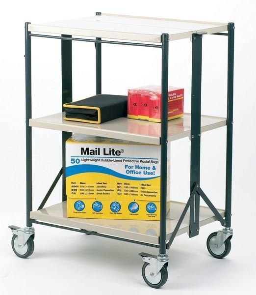 Foldable 3 Shelf Trolley