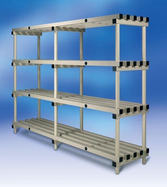 Premier Plastic Shelving - 4 Shelf Unit