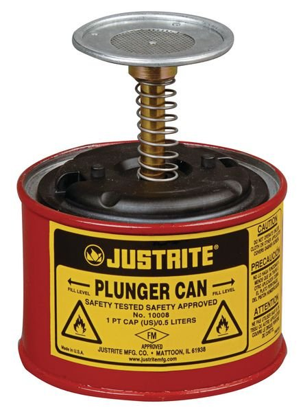 Flammable Liquid Plunger Cans