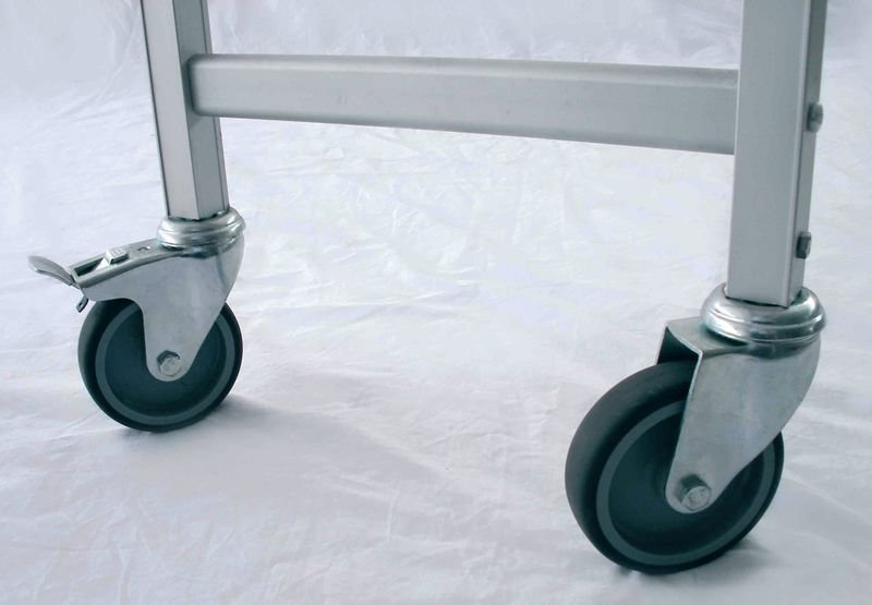Stainless Steel Shelving - Castors