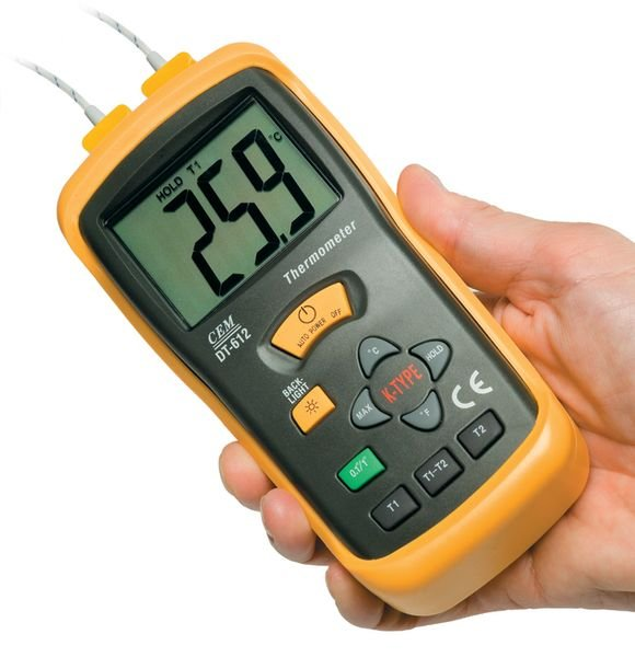 Dual Input K-Type Thermometers