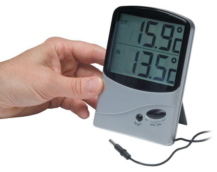 Jumbo Dual Sensor Memory Thermometers