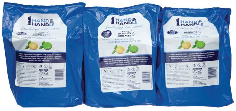 Wipes - Hand & Handle Wet Wipe Station