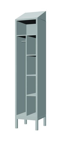 Combi Lockers with Stand & Sloping Tops