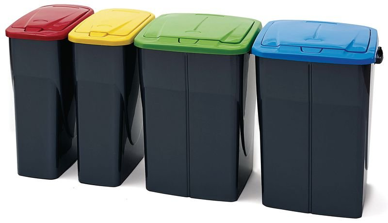Push Button Recycling Bins