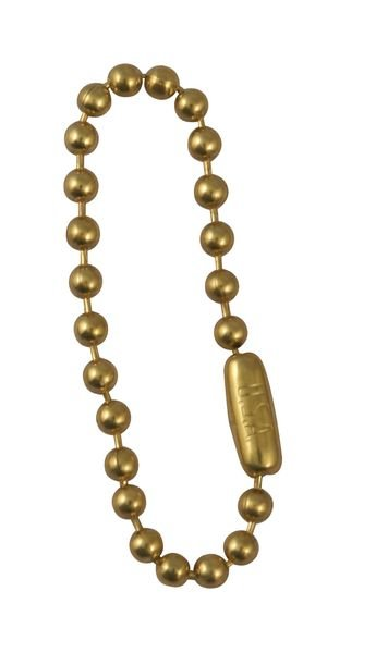 Brass Beaded Link Chain