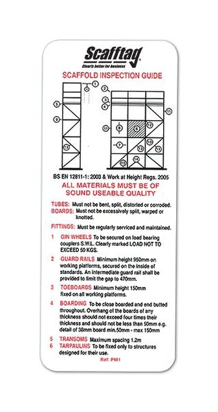 Scafftag® Inspection Pocket Guide
