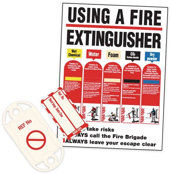Fire Equipment Nanotag & Extinguisher Sign Kit