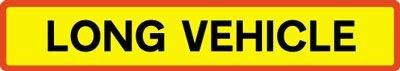 Vehicle Rear Marking Plate - Long Vehicle