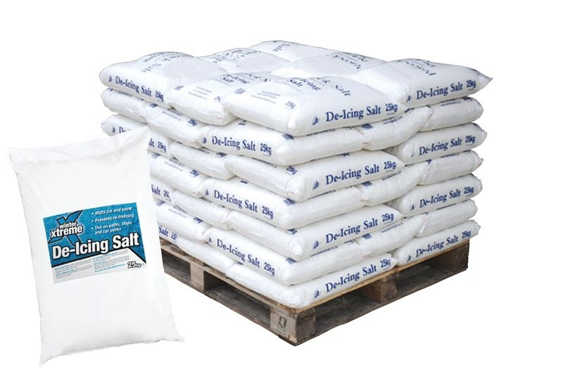 White De-Icing Salt 25kg - Pallet of 42 Bags