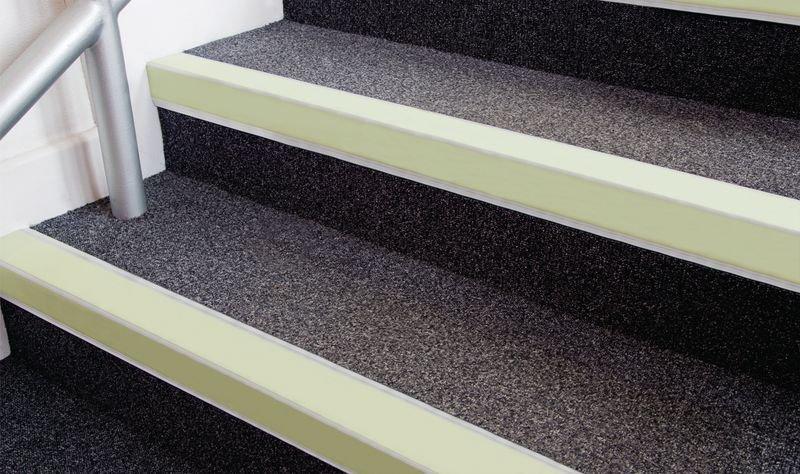 Nite-Glo Photoluminescent Stair Nosings