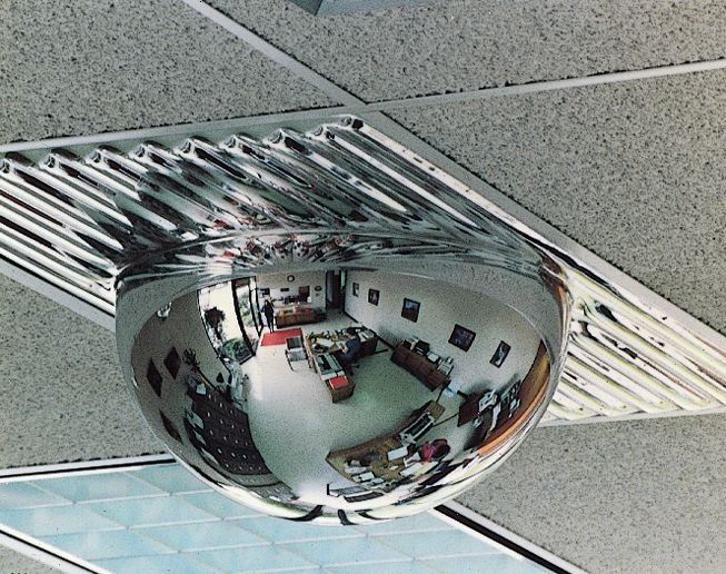 Hemispherical Interior Safety Mirrors