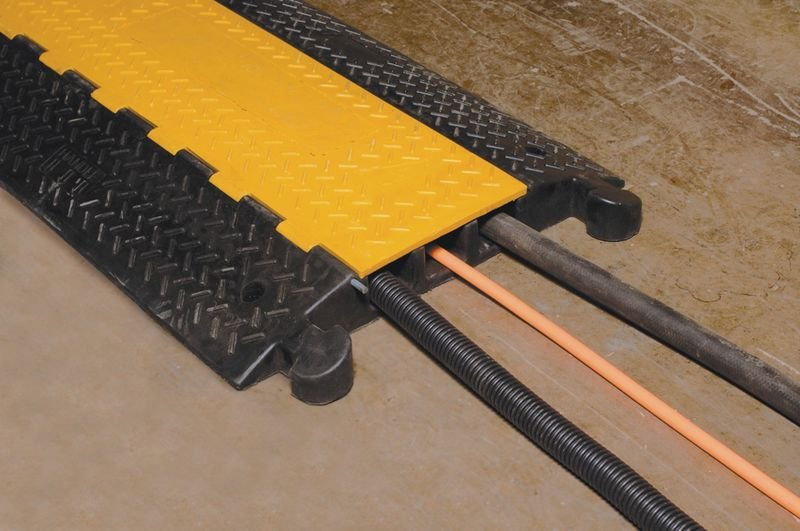 3-Channel Rubber Cable Protector
