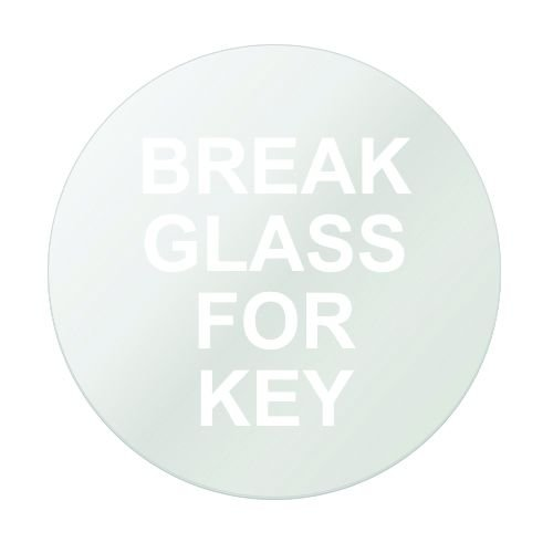 Replacement Glass - Break Glass Key Holder