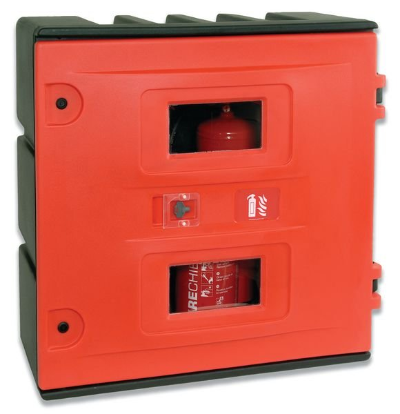 Fire Hose Reel and Equipment Cabinet
