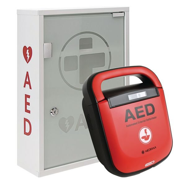Mediana HeartOn AED With FREE Alarmed Cabinet