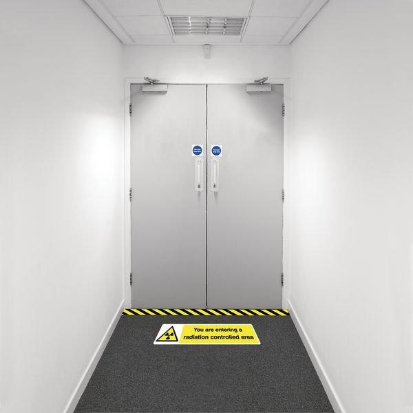 Safety Zoning Floor Marking Kits - Entering Radiation