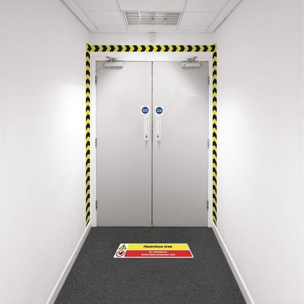 Safety Zoning Wall Marking Kits - Hazardous No Admit.