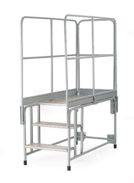 End Handrail For Mobile Steel / Aluminium Work Platform