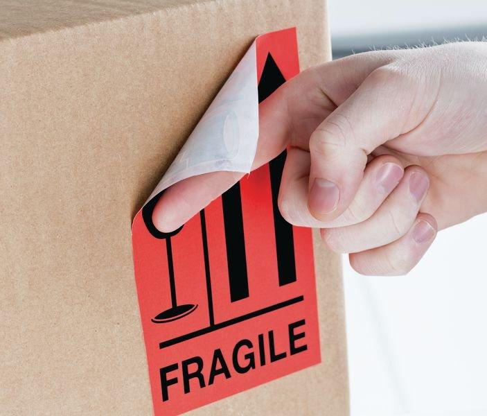 Fragile (↑↑) - International Shipping Labels