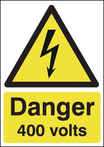 Danger 400 Volts Signs