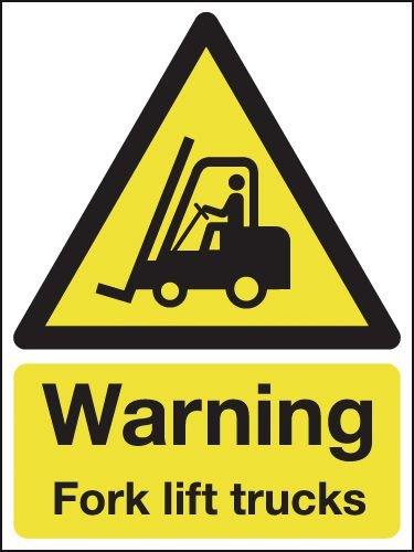Warning Fork Lift Trucks Outdoor Aluminium Signs