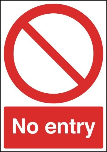 No Entry Outdoor Aluminium Signs