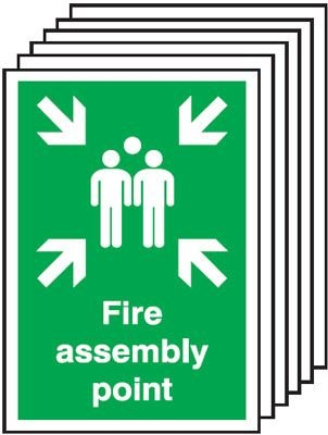 6-Pack Fire Assembly Point Signs