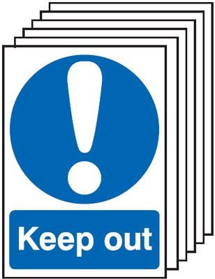 6-Pack Keep Out Signs