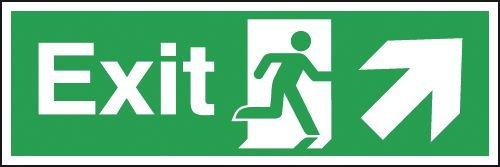 Exit Running Man Diagonal Up Arrow Right