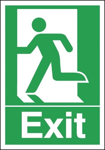 Exit Running Man Left Signs