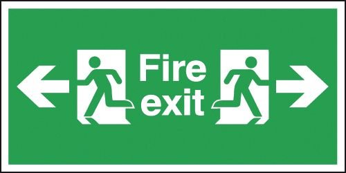 Fire Exit Running Man Left & Right Signs