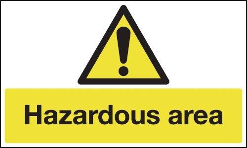 Anti-Slip Floor Signs - Hazardous Area