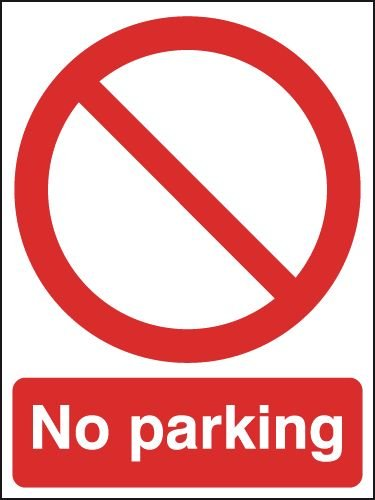 No Parking Outdoor Aluminium Signs