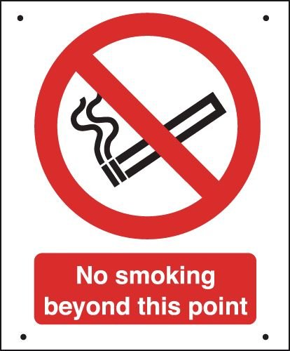 No Smoking Beyond This Point - Vandal-Resistant Sign