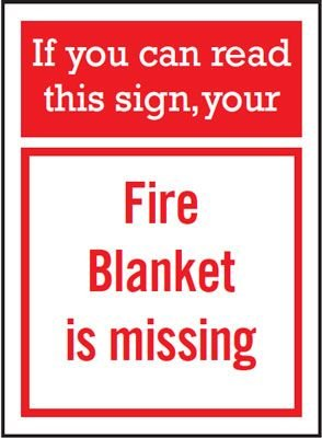Fire Blanket Is Missing Sign