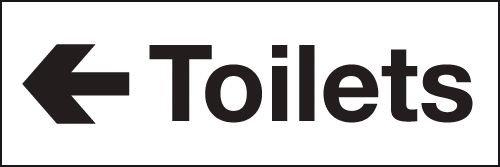 Toilets Left Arrow Washroom Signs
