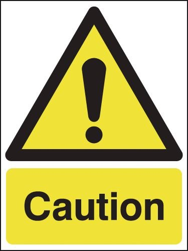 Caution Hazard Warning Signs