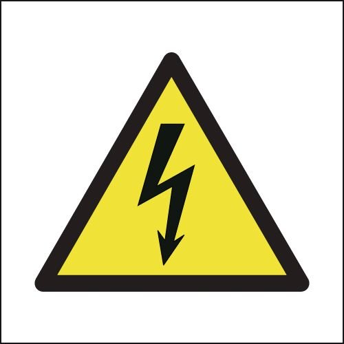 Electricity Symbol On White Signs