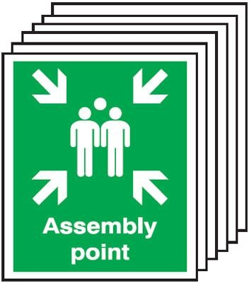 6-Pack Assembly Point Signs
