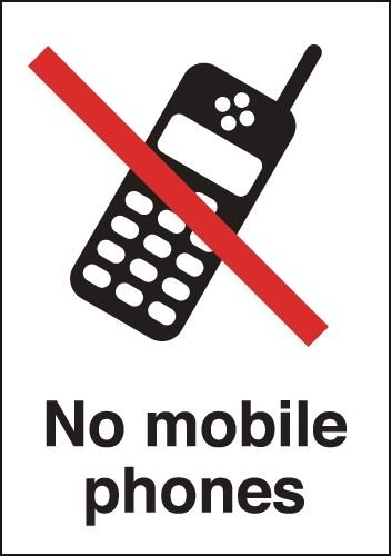 No Mobile Phones Signs