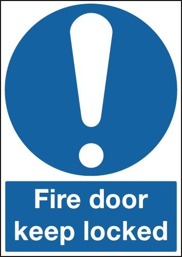 Fire Door Keep Locked (Symbol) Signs