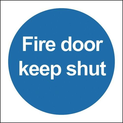 picture about Keep Door Closed Sign Printable identify Hearth Doorway Maintain Near Indications