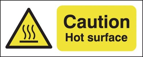 Caution Hot Surface Signs