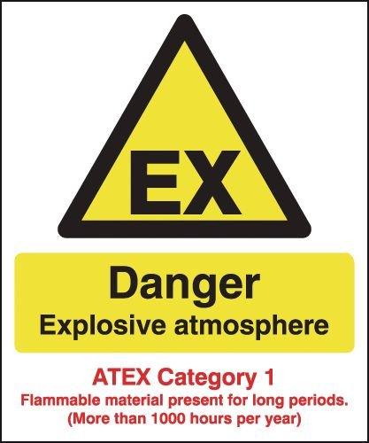 Danger Explosive Atmosphere (Atex Category 1) Signs