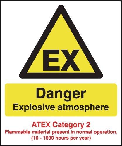 Danger Explosive Atmosphere - Atex Category 2 Signs
