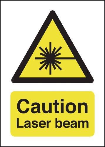 Caution Laser Beam Signs