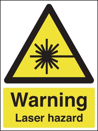Warning Laser Hazard Sign